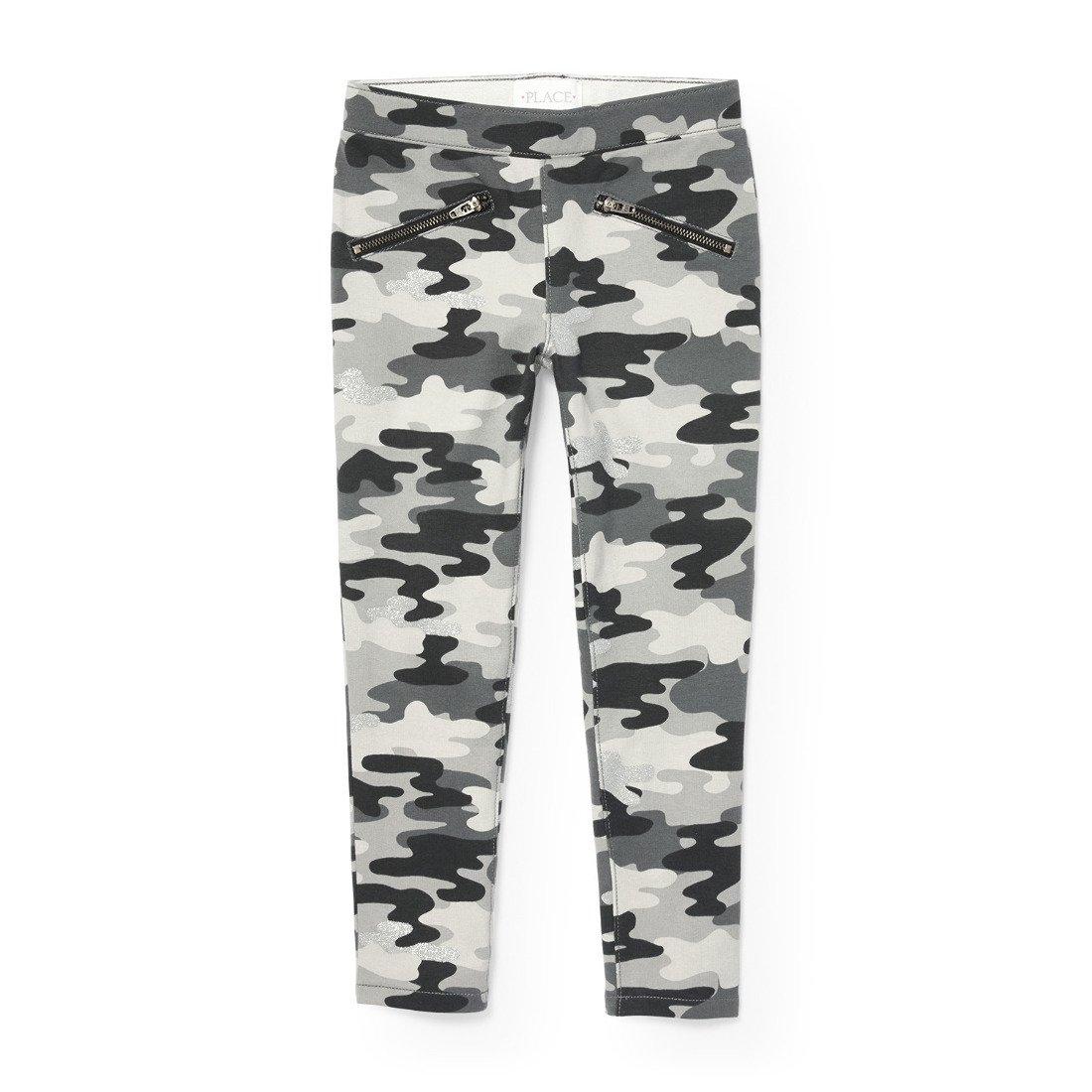 The Children's Place Girls Camoflauge Knit Jegging, Storm 90829, 4