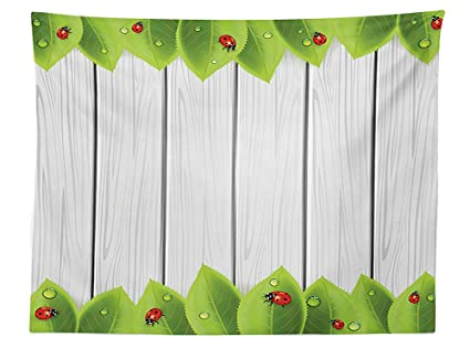 amazon com vipsung ladybugs decorations tablecloth foliage on rh amazon com Dining Table Linens Dining Table Linens