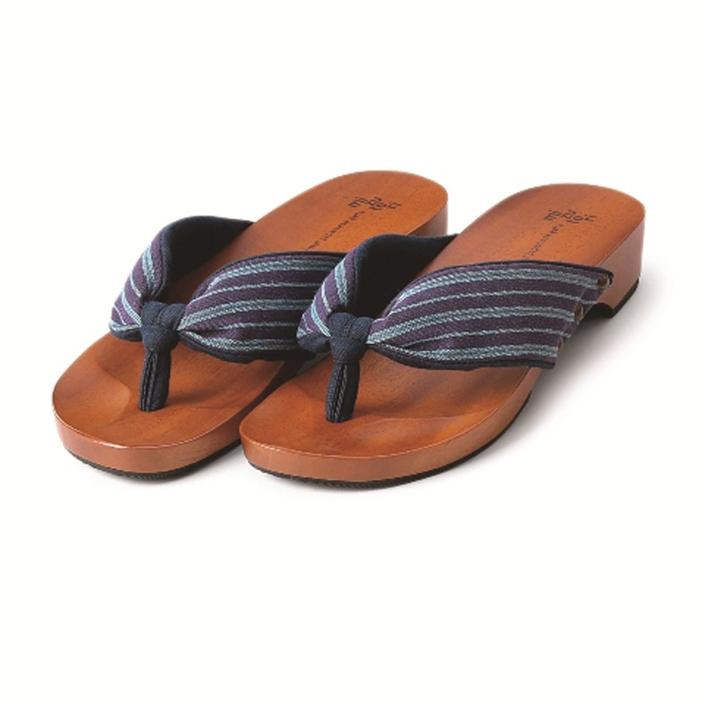MIZUTORI Japanese Style Sandals Kontsumugi, Purple, 7 US Women / 8 US Men by MIZUTORI