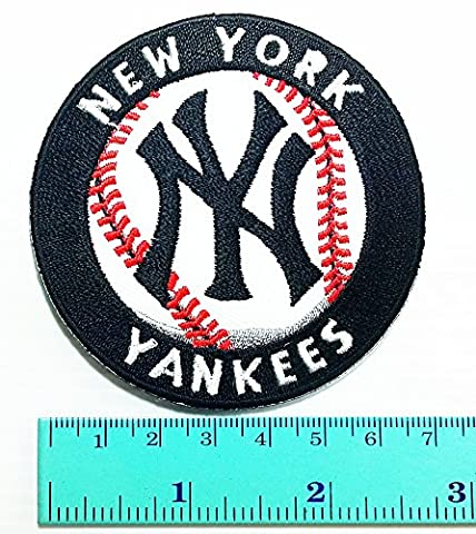 Major League Baseball logo Jacket T Shirt Patch Sew Iron on Embroidered Symbol Badge Cloth Sign - New York Yankees Fabric