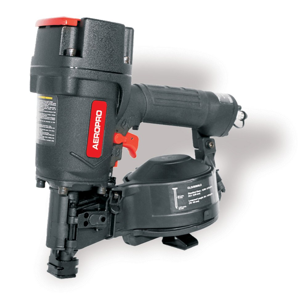 AERPRO USA CN45RN 3/4 in. to 1-3/4 in. Heavy-Duty Coil Roofing Air Nailer