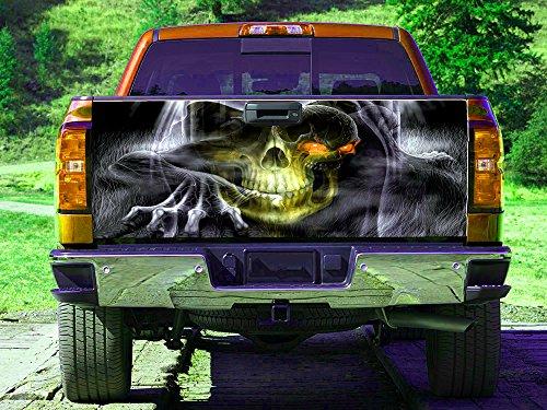 Skull Web Monster Tailgate Wrap, Truck Decal, Tailgate Sticker gc2979