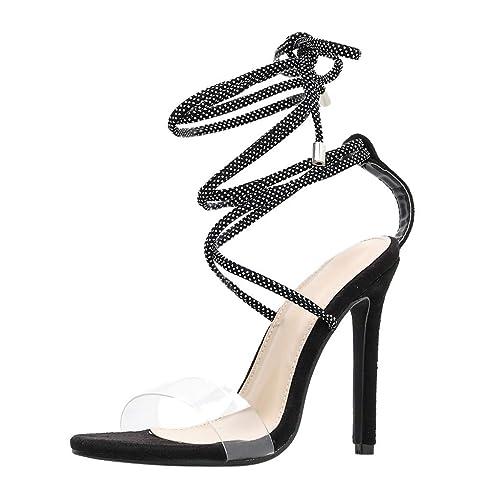 Mujeres Zapatos De Alto Transparentes Tacón Sandalias Mujer ukXZiP