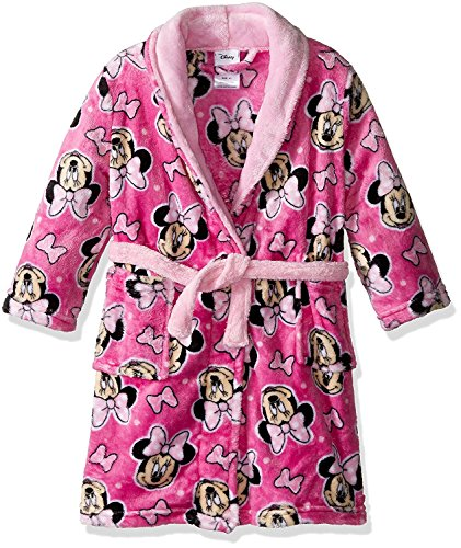 Disney Girls' Minnie Mouse Luxe Plush Robe