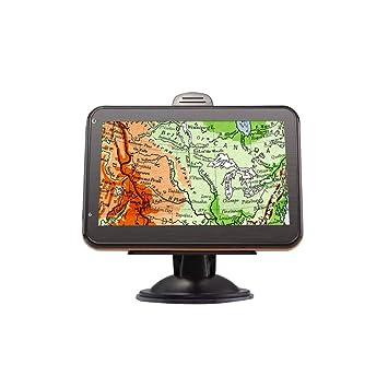 Navegador GPS para coche, portátil 5 pulgadas 8 GB sensores multifuncionales Navegador GPS para vehículo digital: Amazon.es: Coche y moto