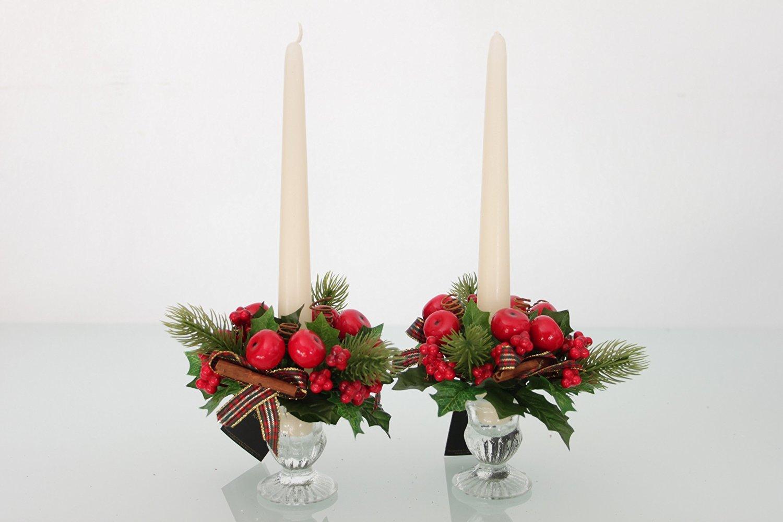 Weihnachten Kerze-Design, 2er-set, für 2015