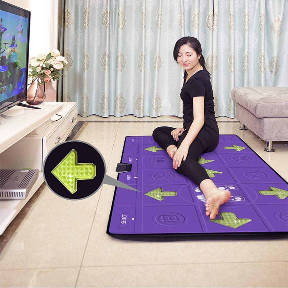 Dance mat Double Yoga Fitness Somatosensory Game Machine PU Blanket Non-Slip, TV+USB Interface, Unlimited Download Song Games by Dance mat (Image #3)