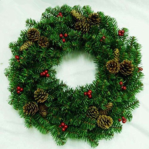Christmas Garland for Stairs fireplaces Christmas Garland Decoration Xmas Festive Wreath Garland with Christmas cone wreath Christmas,45cm by Caribou Furniture And Decor