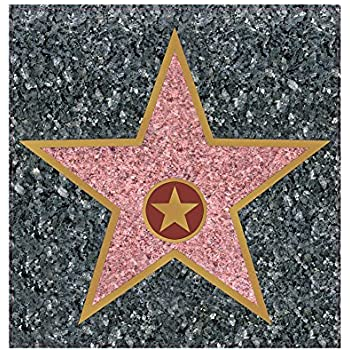 Hollywood walk of fame peel n place star wall cling home kitchen for Decor star 005 ss