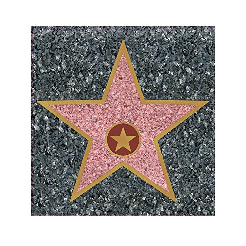 [Peel 'N Place STAR Hollywood Walk Of Fame Novelty Cling] (Bollywood Party Decorations)
