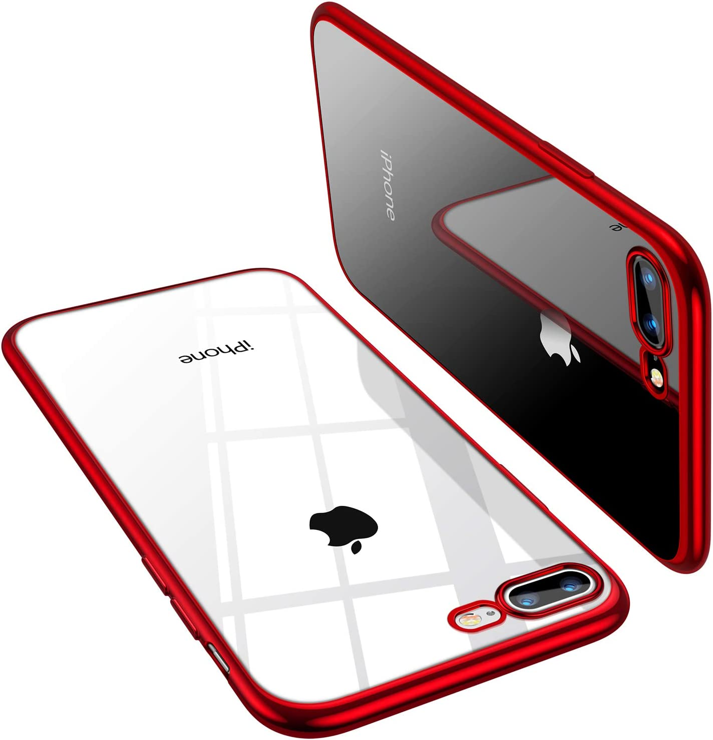 TORRAS Crystal Clear Compatible for iPhone 8 Plus Case/iPhone 7 Plus Case 5.5 inch, Transparent [10X Non-Yellowing] Shockproof Rubber Slim Thin [Faith ...