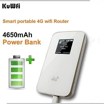 Amazon.com: kuwfi – Banco de energía portátil 4 G Router ...