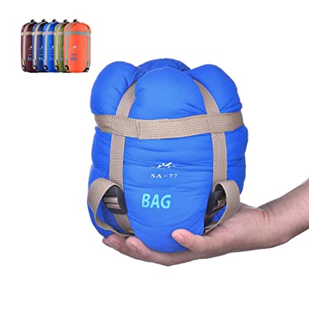 BESTEAM Warm Weather Sleeping Bag, Waterproof, Lightweight, Great Adults Kids, Family Camping, Backpacking, Traveling, Hiking, Outdoor Activities, Spring, Summer Fall Light Blue