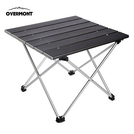 Ultra Pliante Nique Les en Alliage etc pour Overmont légère d'aluminium Pique 39 5x35x31cm activités de Table en Portable Plein air Camping EDH2W9I