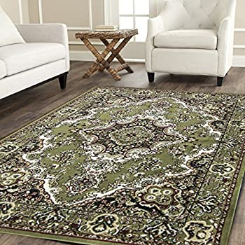 Msrugs 108 Area Rugs Clearance For Living Room 8 W Green