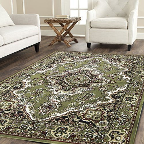 Msrugs 108 Area Rugs, Clearance Rugs for Living Room Rugs, 8' W, Green (Vinyl Woven Area Rugs)