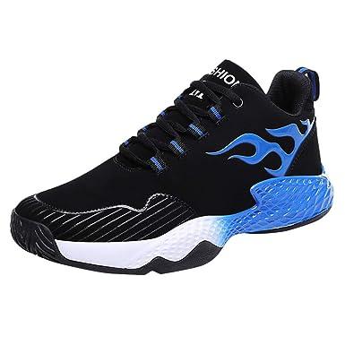 Zapatillas de Running para Hombre ZARLLE Zapatillas Deportivas de Mujer Air Cordones Zapatillas de Running Fitness Sneakers 4cm Blanco,Azul,Rojo,Oro39-45: ...