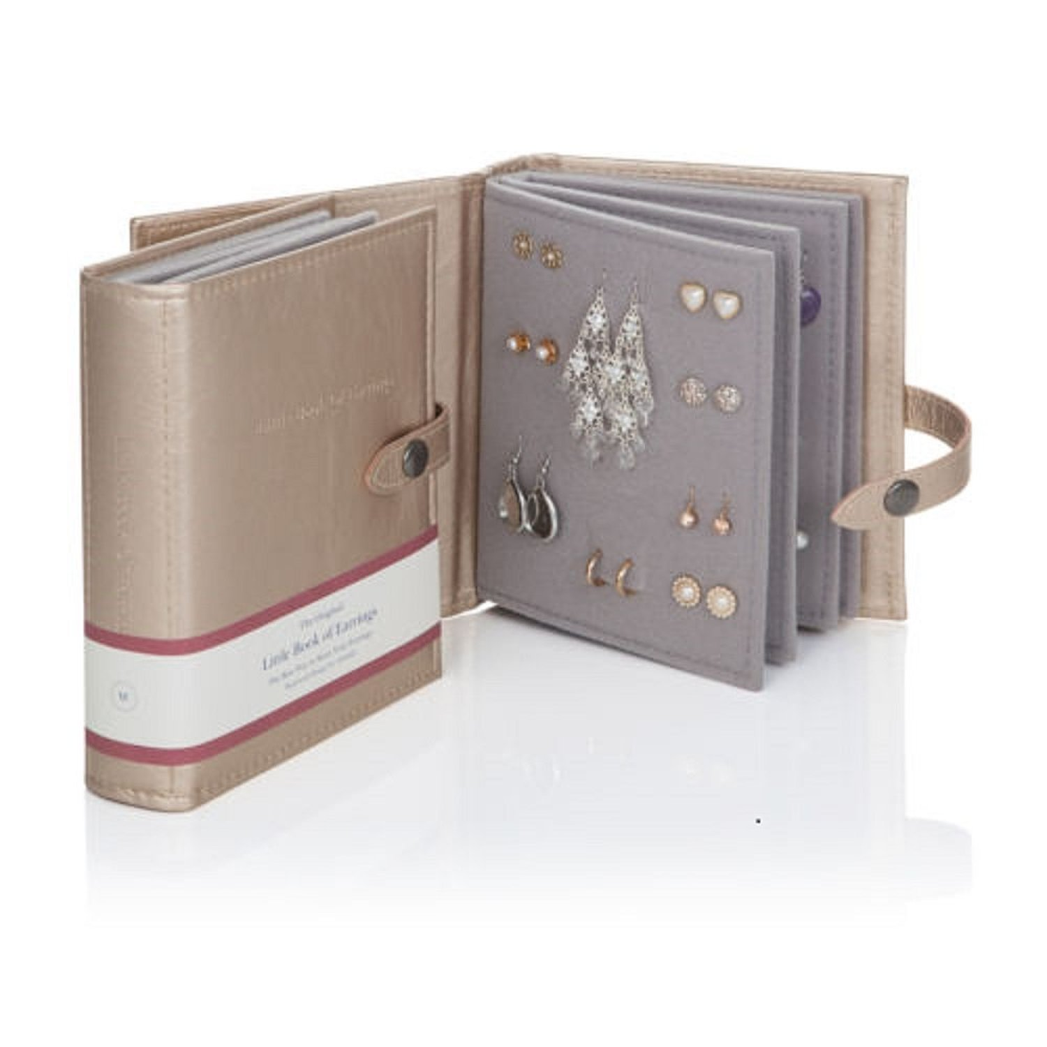 Large Size - Little Book of Earrings - A Small Book for Keeping Your Earrings Safe! (Gold)