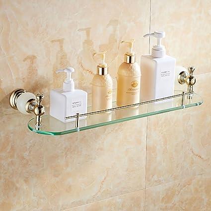 Amazon.com: Bathroom Shelves Bathroom Shelf Whole Copper Bathroom ...