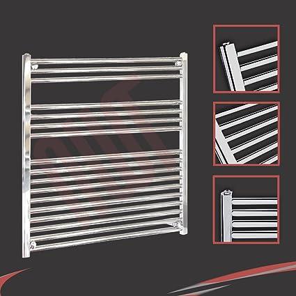 Design Radiator 900 Watt.900mm W X 900mm H Straight Chrome Heated Towel Rail