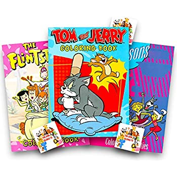 amazoncom cartoon classics coloring books set the
