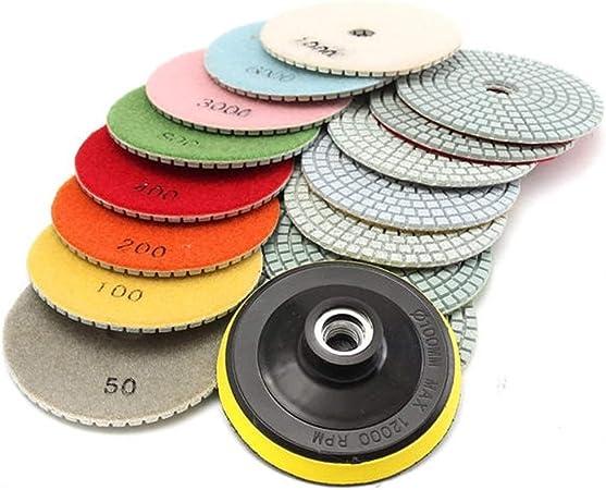 16pcs 4 Inch 50 to 10000 Grit Diamond Polishing Pads for Granite Stone Concrete
