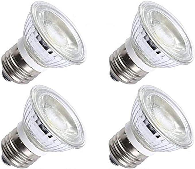 Ctkcom 5w Par16 Hr16 Led Spotlight Bulb 4 Pack E26 E27 Base Cob Flood Light Bulb 36 Degree 450lm 3000k Warm White 50w Halogen Bulb Equivalent Led Bulbs 110v 130v Amazon Com