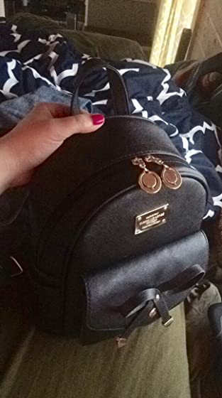 Girls Bowknot Cute Leather Backpack Mini Backpack Purse for Women Love this backpack purse!!
