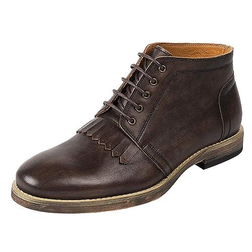 Botas Martin De Cuero para Hombre Botines Desert Botines De Nieve Chukka Botas De Trabajo Senderismo Botas con Cordones: Amazon.es: Zapatos y complementos