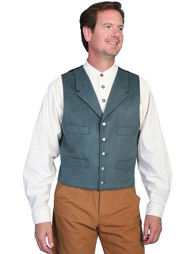Scully Wahmaker Men's Wahmaker 4-Pocket Wool Vest Military Green Large