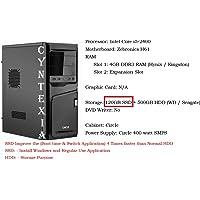 Cyntexia Desktop Computer Basic Intel Core i5-2400/4GB DDR3 RAM/120GB SSD/500GB HDD/Operating System & Basic Software Installed/Plug and Start