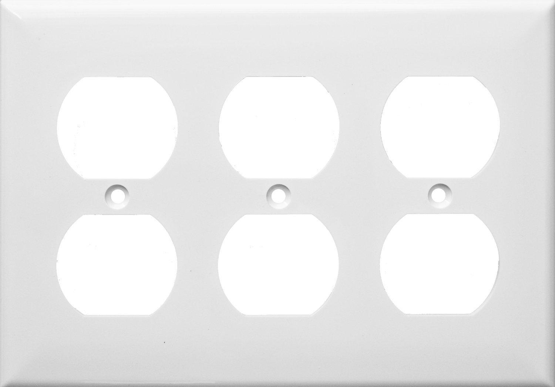 Morris 81431 Lexan Wall Plate Decorative//GFCI 2 Pack 3 Gang White