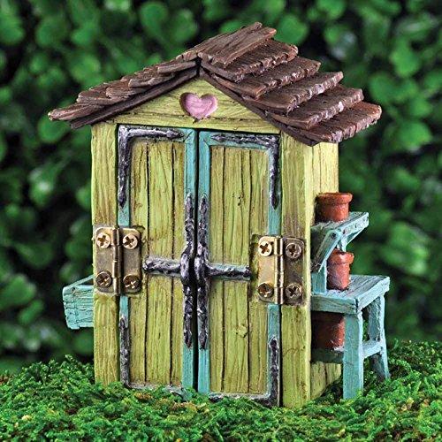Fiddlehead Fairy Garden Accessories Mini Garden Shed Amazoncouk