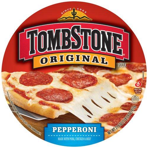 TOMBSTONE PIZZA ORIGINAL PEPPPERONI 21.6 OZ - 12