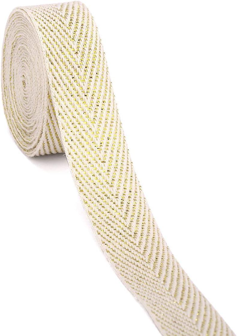 Cinta de sarga de algodón Yzsfird, rollo de 50 m, no se desvanece para coser y envolver regalos: Amazon.es: Juguetes y juegos