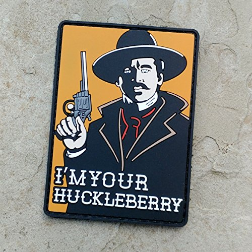 [I'm Your Huckleberry Doc Holiday PVC Rubber Morale Patch by NEO Tactical Gear Morale Patch - Hook Velcro Sewn On] (Zombie Doctor Childrens Costumes)