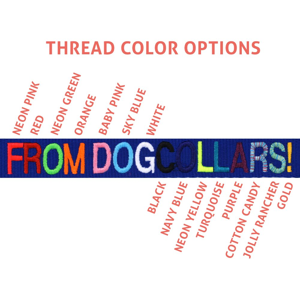 GoTags Personalized Dog Collar, Custom Embroidered with Pet Name and Phone  Number in Blue, Black, Pink, Red and Orange, for Boy and Girl Dogs, 4