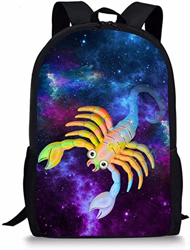 Showudesigns Cool Scorpion Printing Backpack for Teen Boys Girls Lightweight