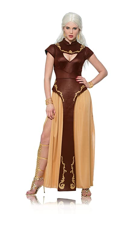 Costume Culture Women's Barbarian Warrior Costume, Brown, Small