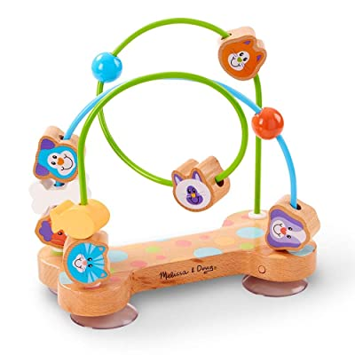 Melissa & Doug First Play Pets Wooden Bead Maze with Suction Cups for Babies and Toddlers: Toys & Games