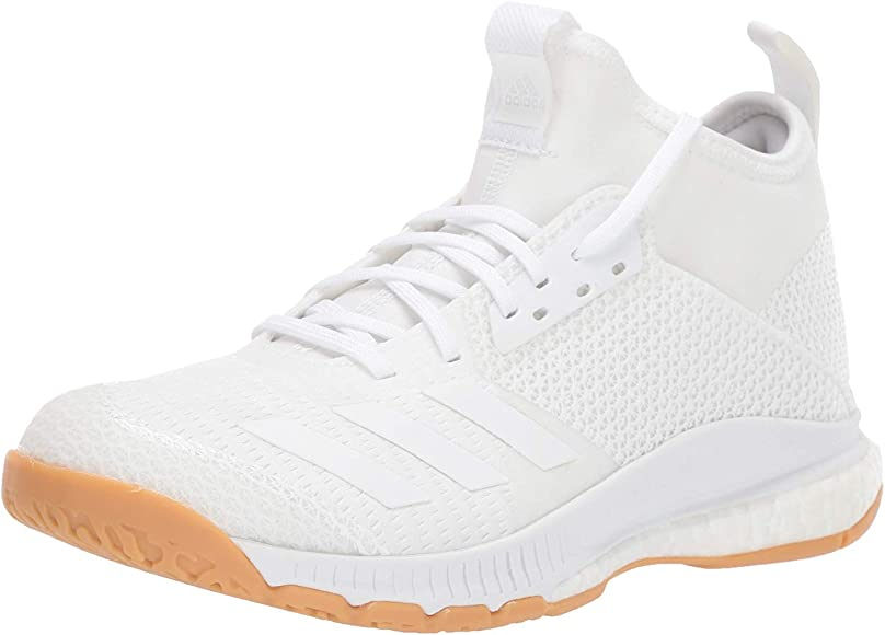 3 Mid Volleyball Shoe, White/Gum