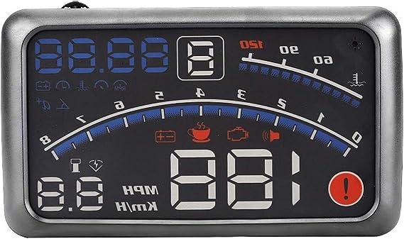 Universal Head Up Anzeige Gps Navigation Hud Head Up Display Mph Km H Geschwindigkeitsbegrenzungswarnung Plug Play Für Fahrzeuge Mit Obd2 Und Euobd Anschluss Auto