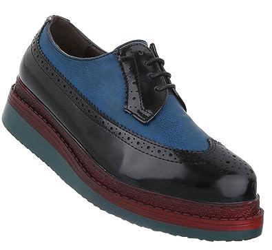 Schuhcity24 Damen Schuhe 13134 Halbschuhe Schwarz Blau 36  Amazon.de ... 3b3eed8880