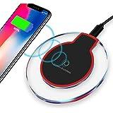 ULTRICS Caricatore Wireless, Portatile Qi Certificato Fast Charger Antiscivolo, Caricabatterie Senza Fili, Compatibile con Apple iPhone, Samsung, LG e altro, Nero