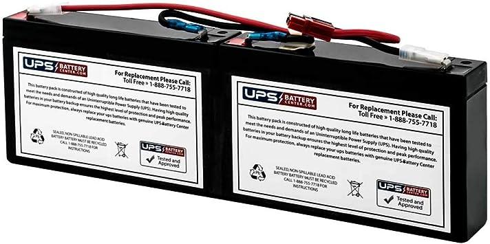 1U Rackmount//Tower SC250RM1U UPSBatteryCenter Compatible Replacement Battery Pack for APC Smart-UPS SC 250VA 120V