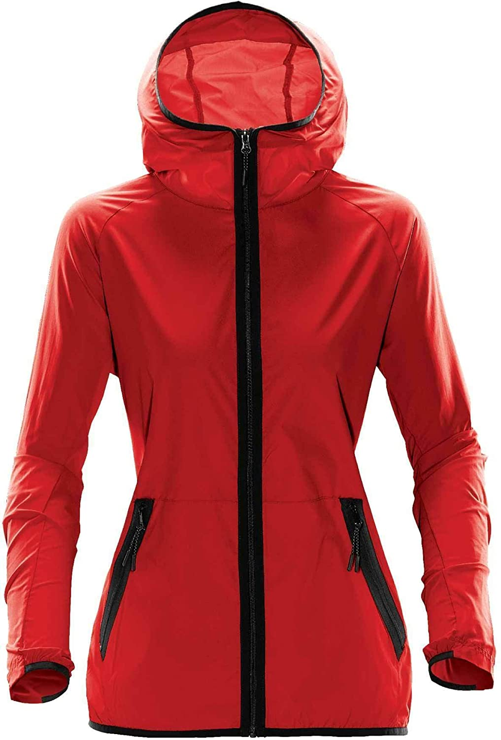 Bright Red Stormtech Women's Ozone Hooded Shell  TMX1W
