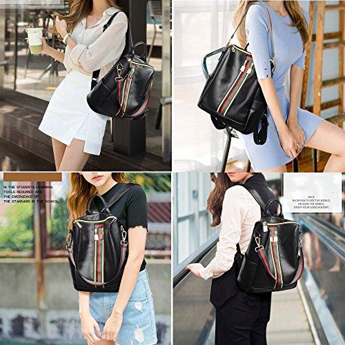 version dos Black loisirs à sac de sac bandoulière nylon à mode femmes PU Sac coréenne 2018 nouvelle cuir M011eu 5pvxUIWgqw