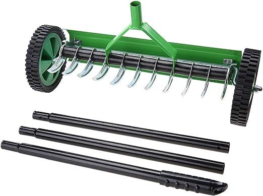 GOTOTOP Aireador de Césped de Jardín al Aire Libre con Manija Larga Tipo Spike Heavy Duty Steel Grass Roller: Amazon.es: Jardín