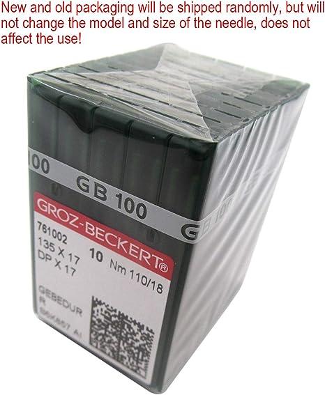 Size 100 // 16 100 Groz-Beckert 135X17 DPX17 SY3355 Industrial Walking Foot Machine Needles