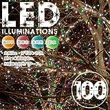 イルミネーション LED100灯 ミックス光